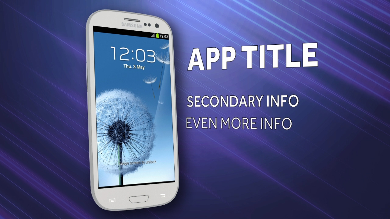 showcase your new smartphone app on a 3D Samsung Galaxy