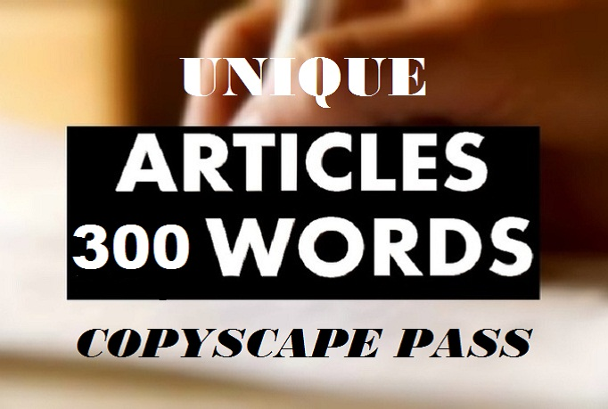 Write 2 Original 300 Word ARTICLE In 24 Hours