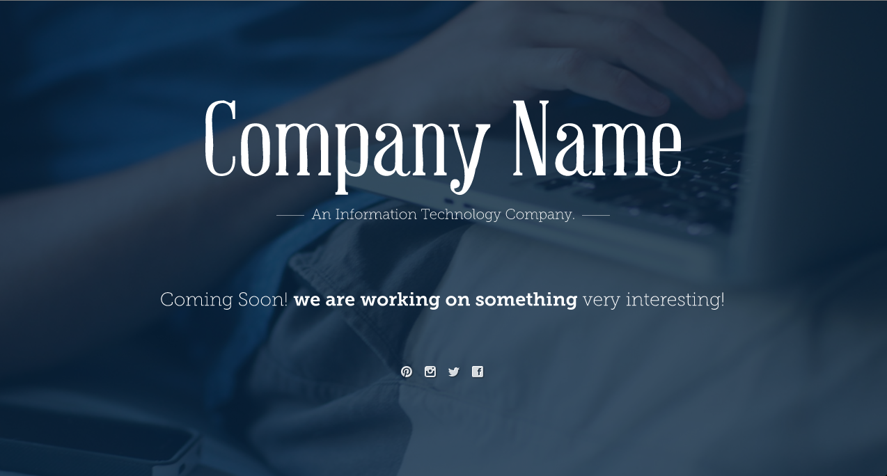 provide a Beautiful Coming Soon page