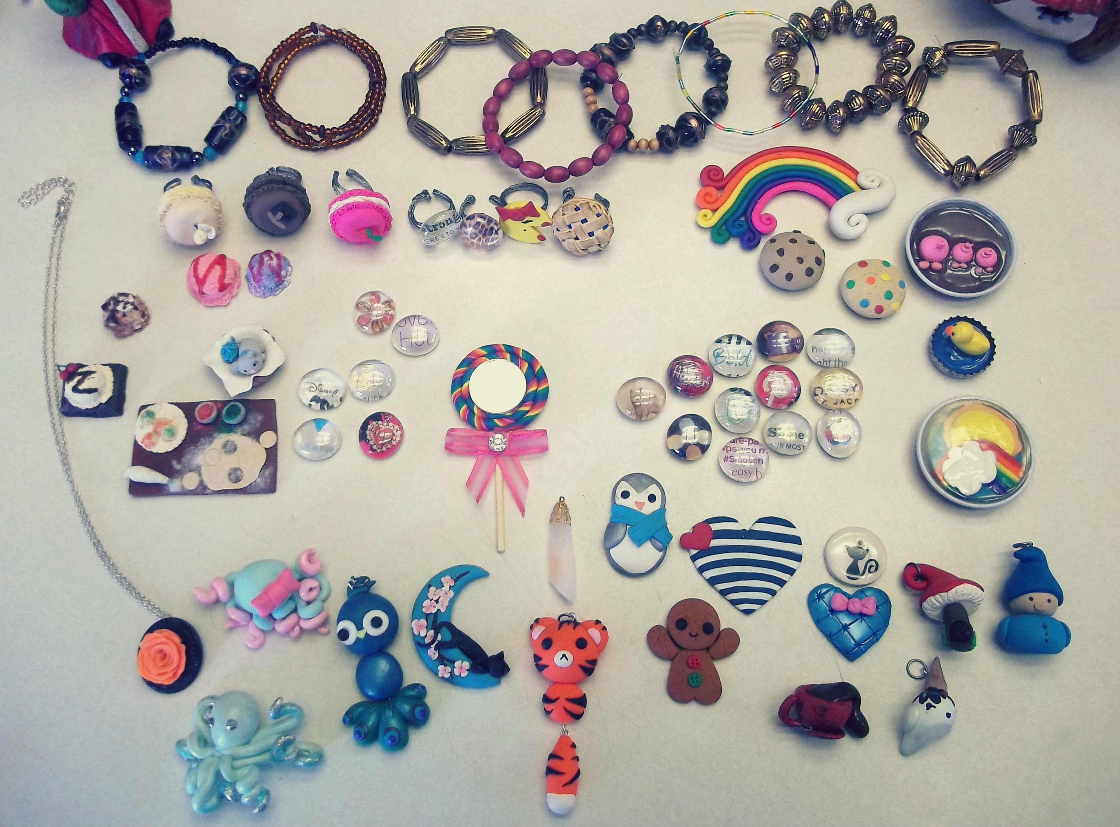 send you a craft of whatever you'd like made from polymer clay