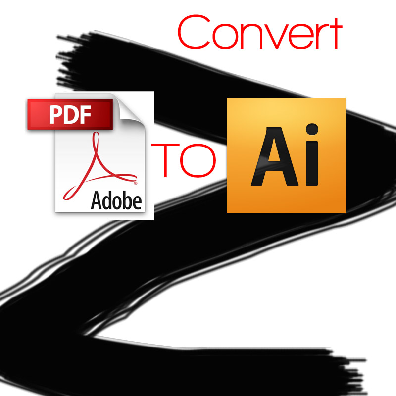 convert PDF to illustrator or word