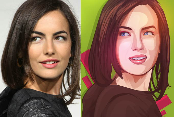 make a vector portrait of your photo with my style