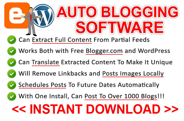 give you Auto Blogging Software Full Version