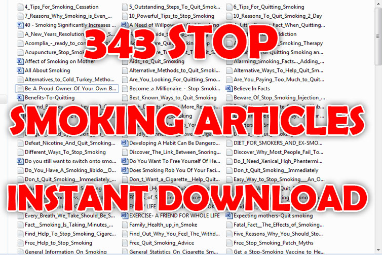 give you 345 Stop Smoking Article
