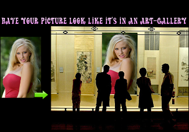 make your picture look like it is in an art gallery