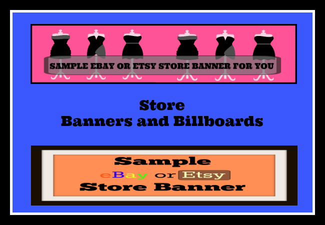create a dynamic eBay or Etsy store Banner