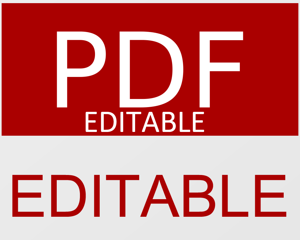 create a PDF form with editables fields