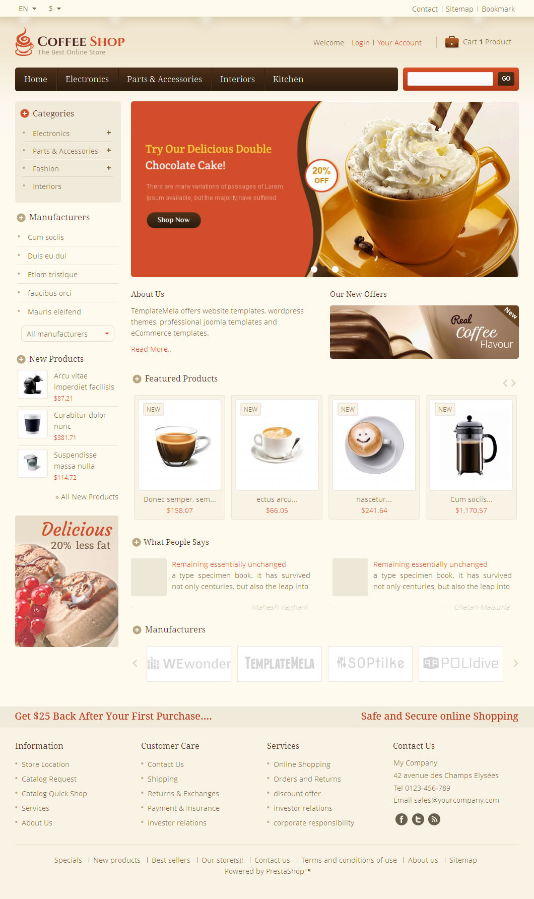give you a Resposive PrestaShop Theme
