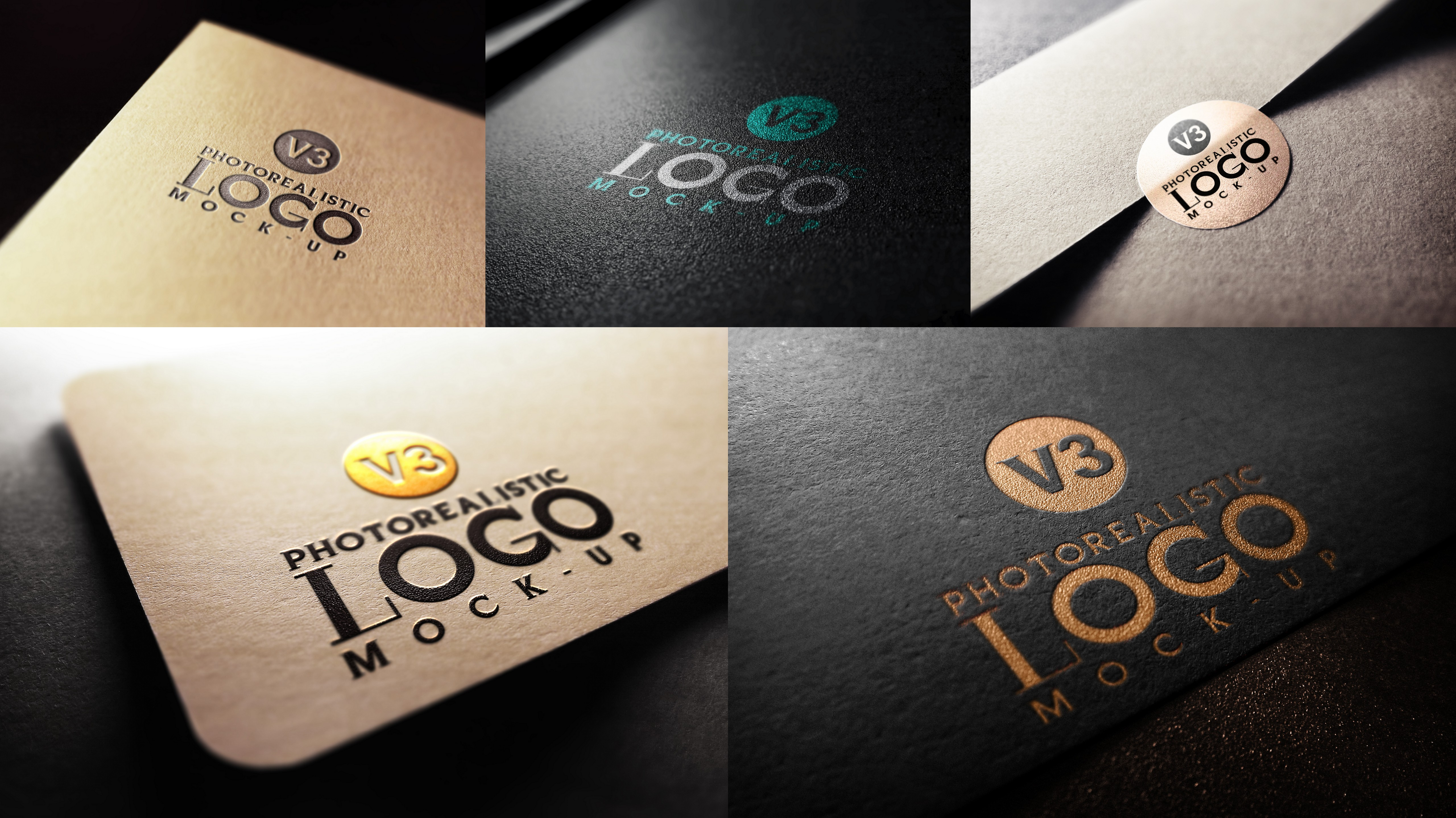 engrave your logo into 15 mockups