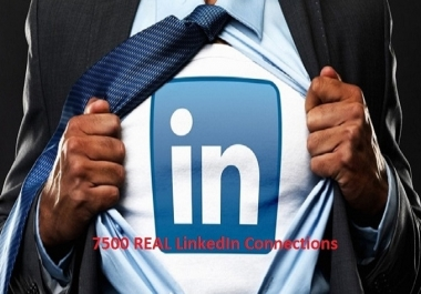 give 7500 REAL LinkedIn Connections from Active Members