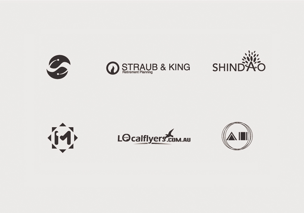 design a unique creative logo with at least 3 concepts as you choose