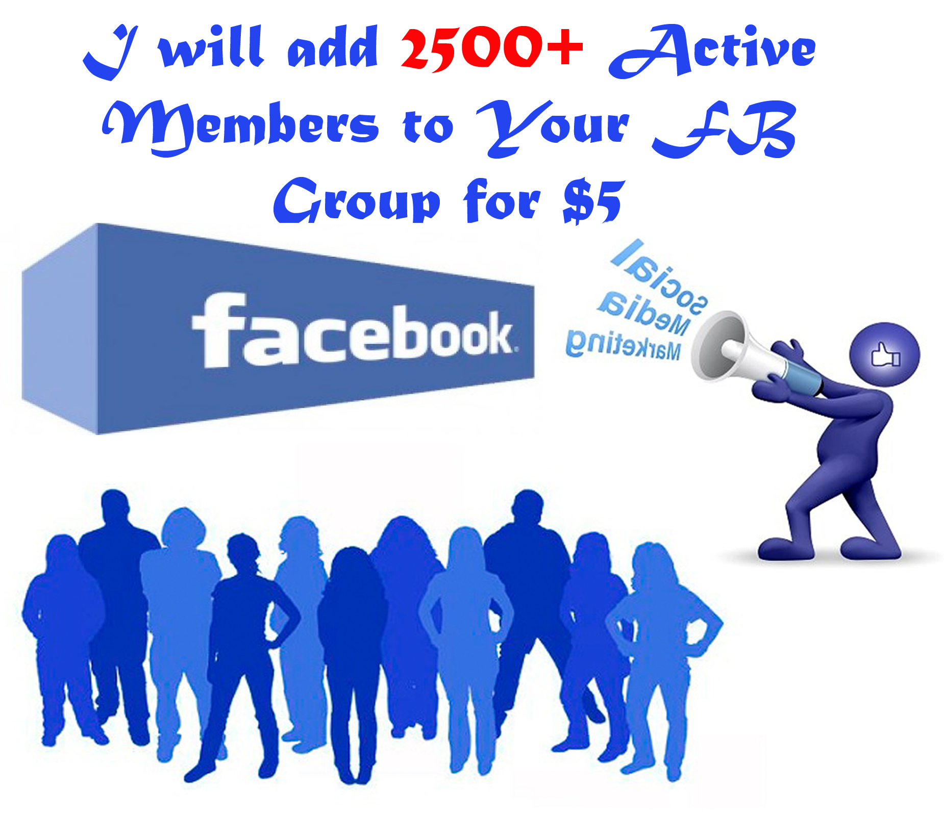 give 10,000 Active Member To Your FB Group With in a day