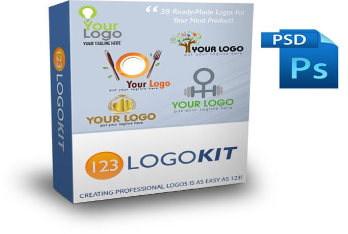 send you 38 ready made logos for your product