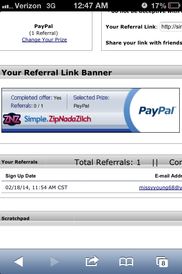 pay you $5 to sign up under my zipnadazilch link and complete credit requirements