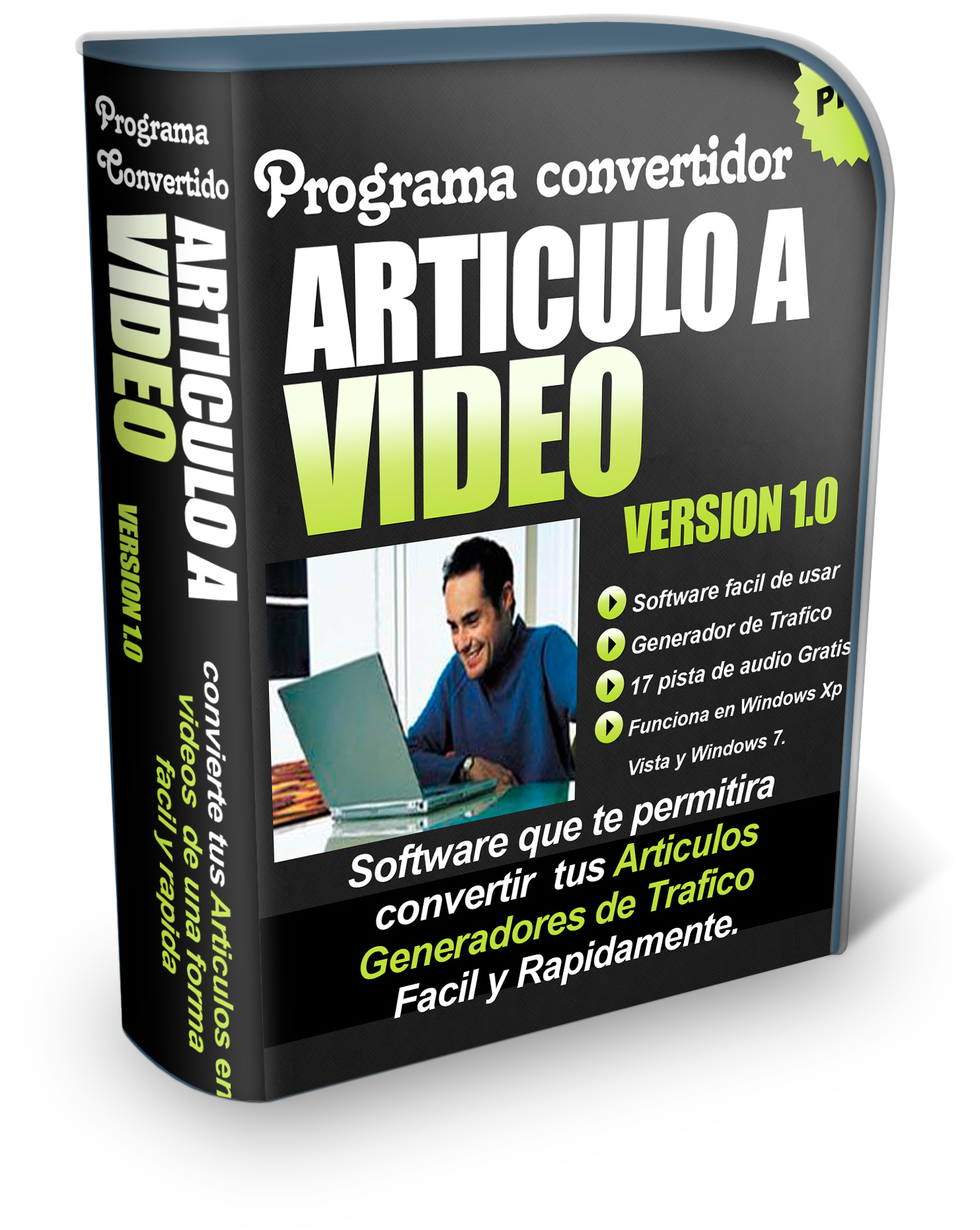 Give you a Powerfull Internet marketing Software that Will help turn text articles into videos with background music in 45 secons