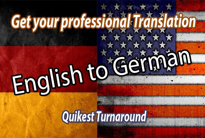 Translate up to 300 words from English to German