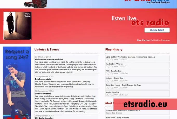promote your track on ETS Radio and add it to the music database