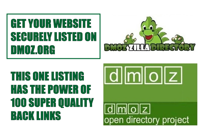 professionally add your website to DMOZ.ORG