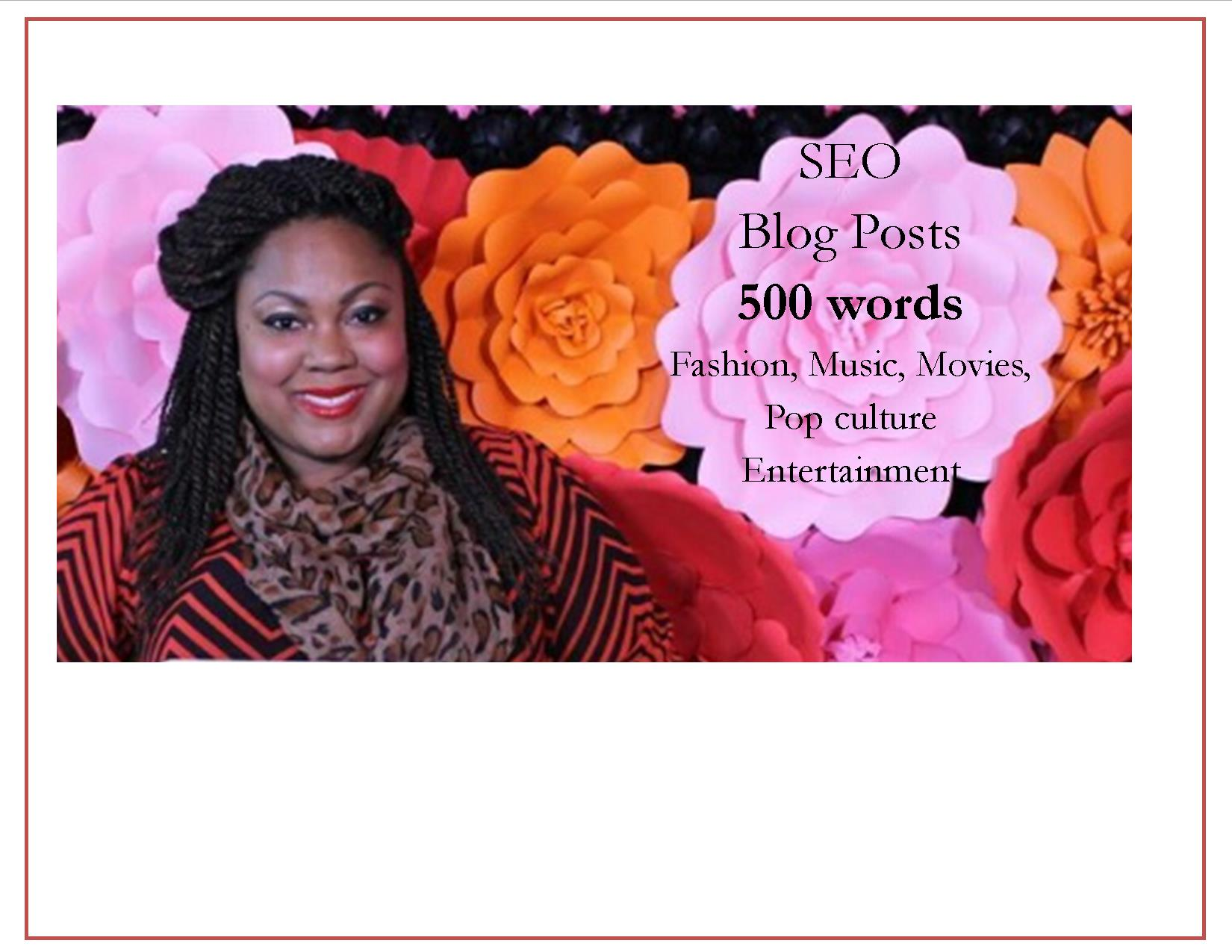 write a 500 word SEO post on fashion, entertainment or music & include 1 royalty free image