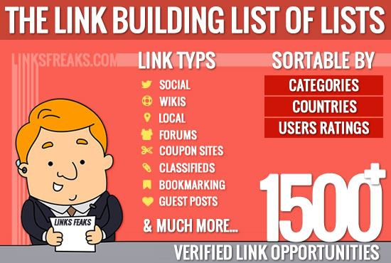 give you a list of a 1000+ handpicked link opportunities sorted by category and state!