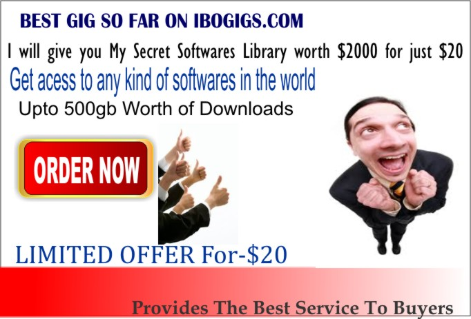 give you my secret SOFTWARES library worth of $2000
