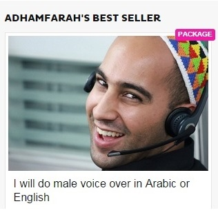 do male voice over in Arabic or English