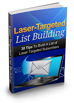 give you 19 Ebooks on how to build your list and how to get a ton load of laser targeted traffic to your website,blog or affiliate links in any niche