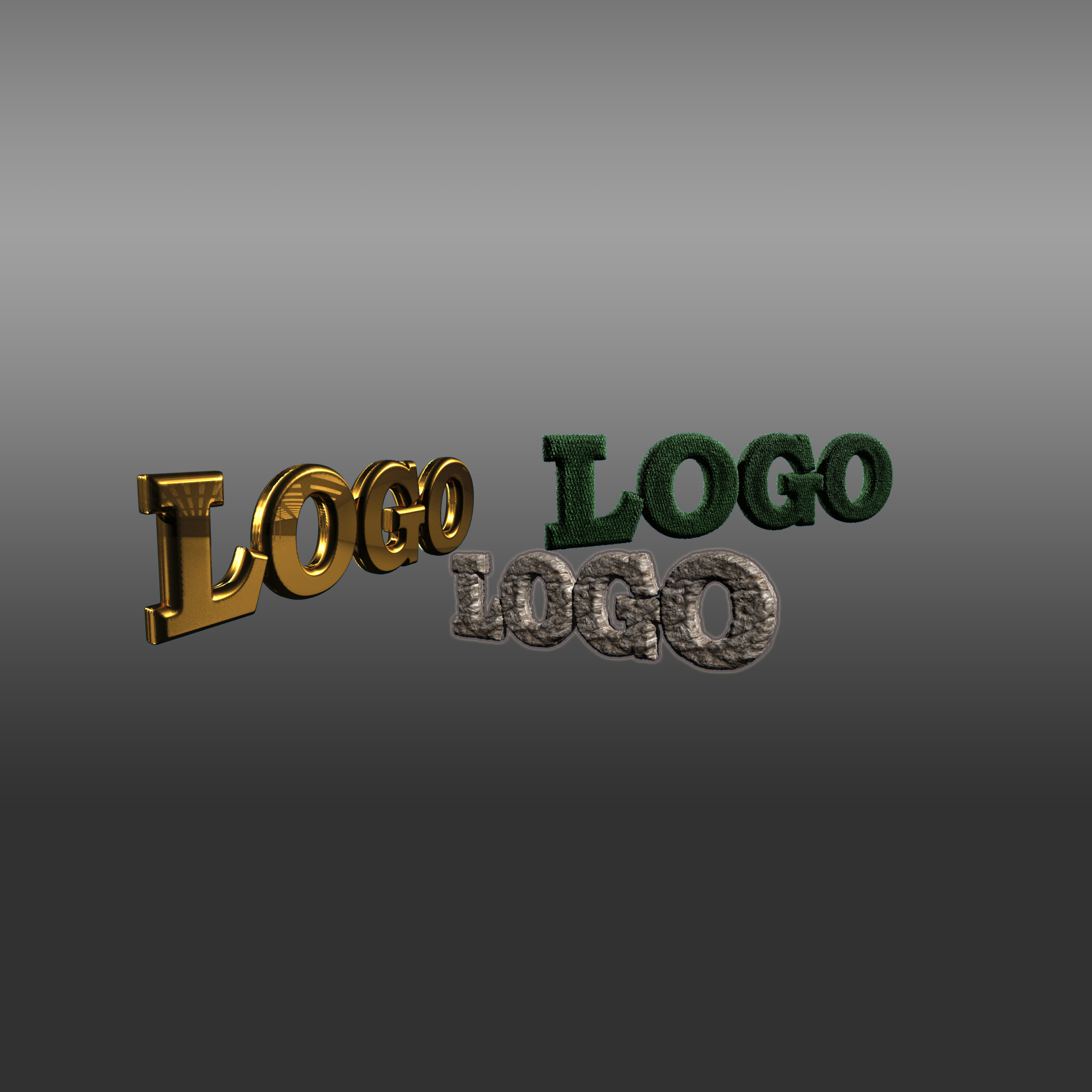 Model, animate and render your logo or name