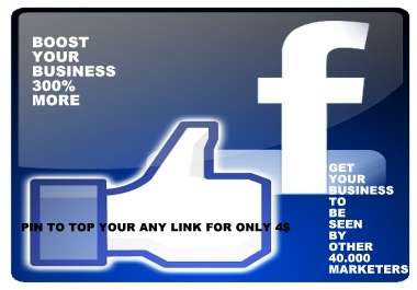 pin to top your any link to 50.000 members