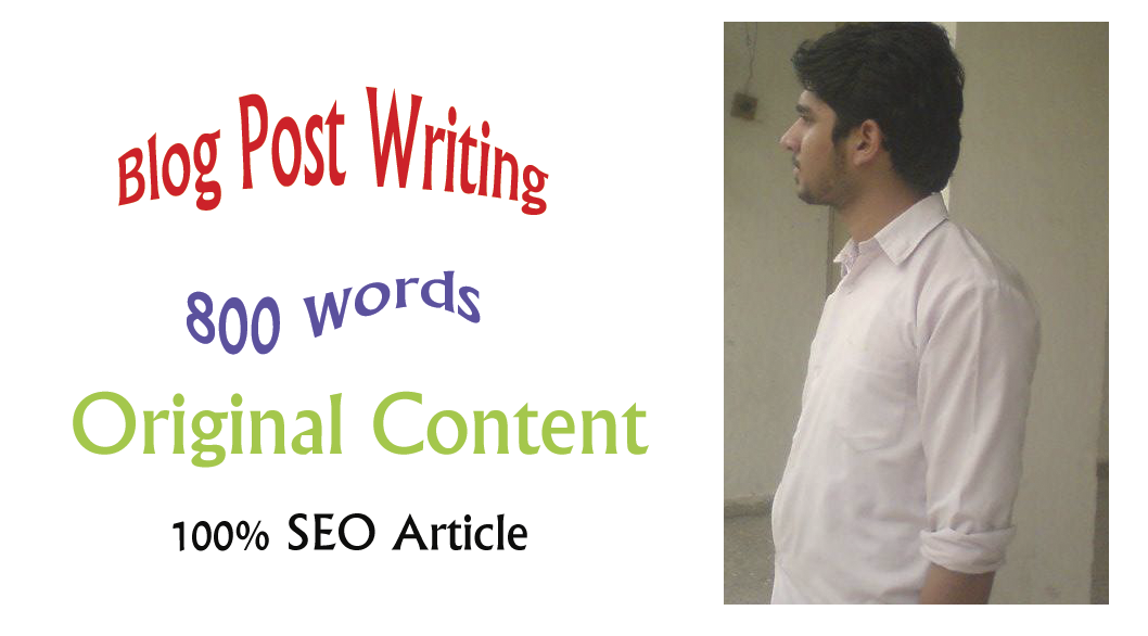 write 800 word for Blog Post