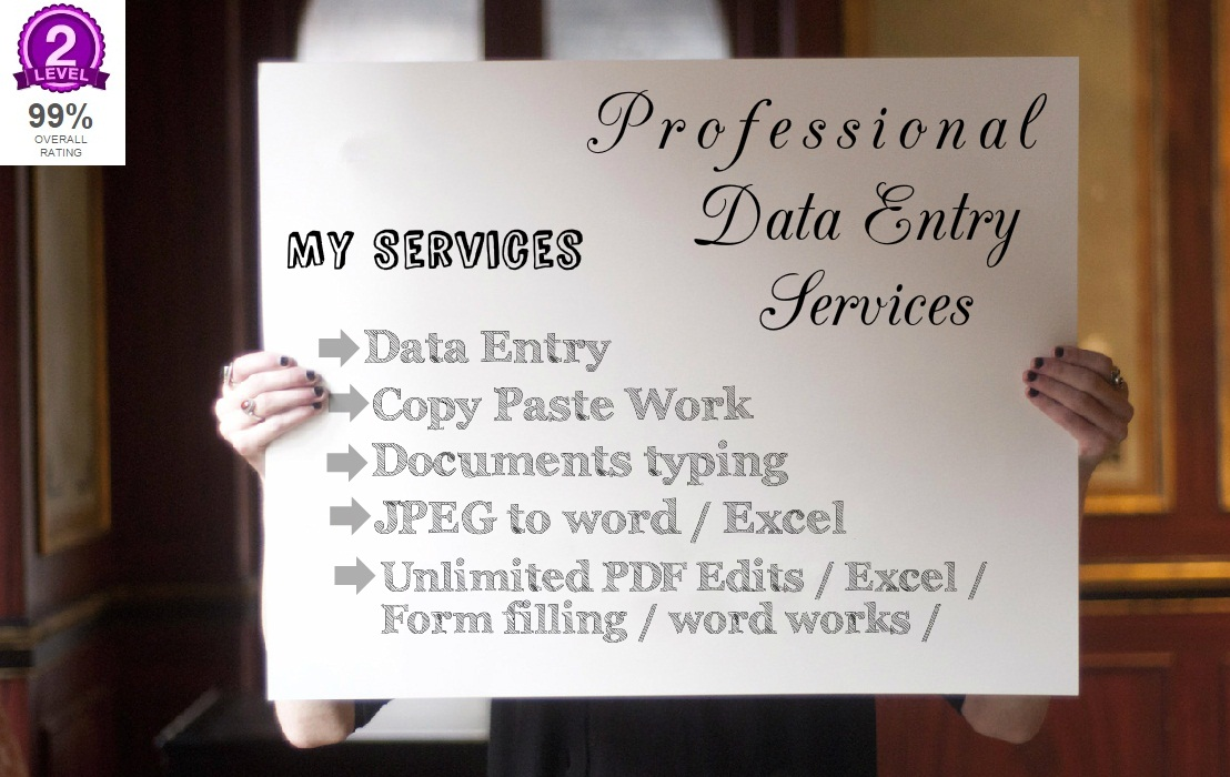 do data entry and related work with in 5 hours