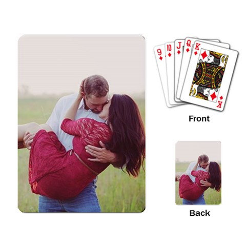 send you a Personalized Custom Playing Cards Deck - 54 poker cards deck - Use your own image / photo - Free Shipping Worldwide