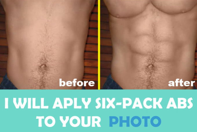 put six pack abs to your photo