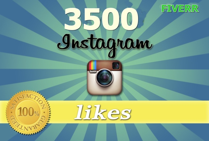 Super Fast supply of 3500 Real Human Instagram likes