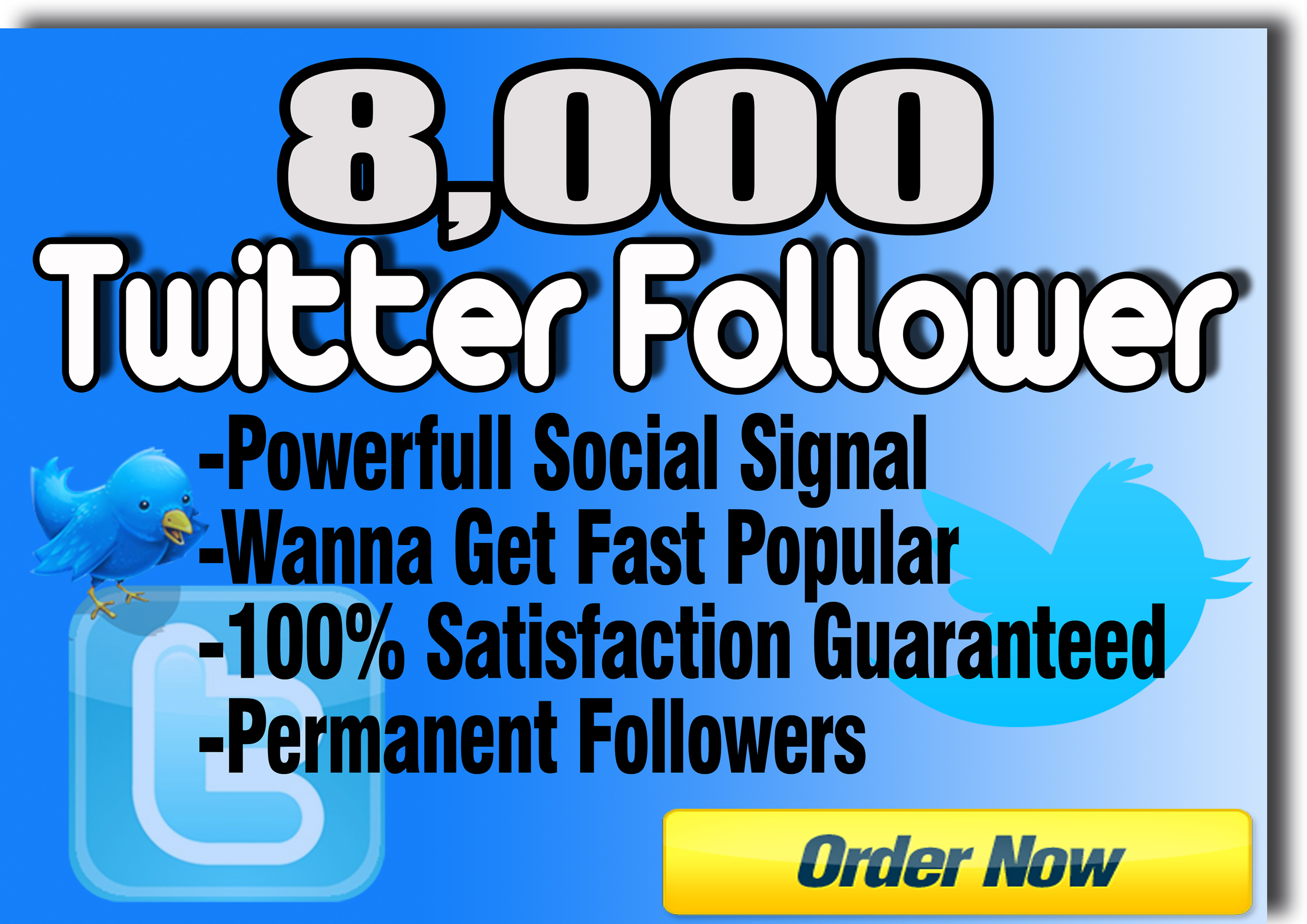 supply you 8000 Real Twitter followers