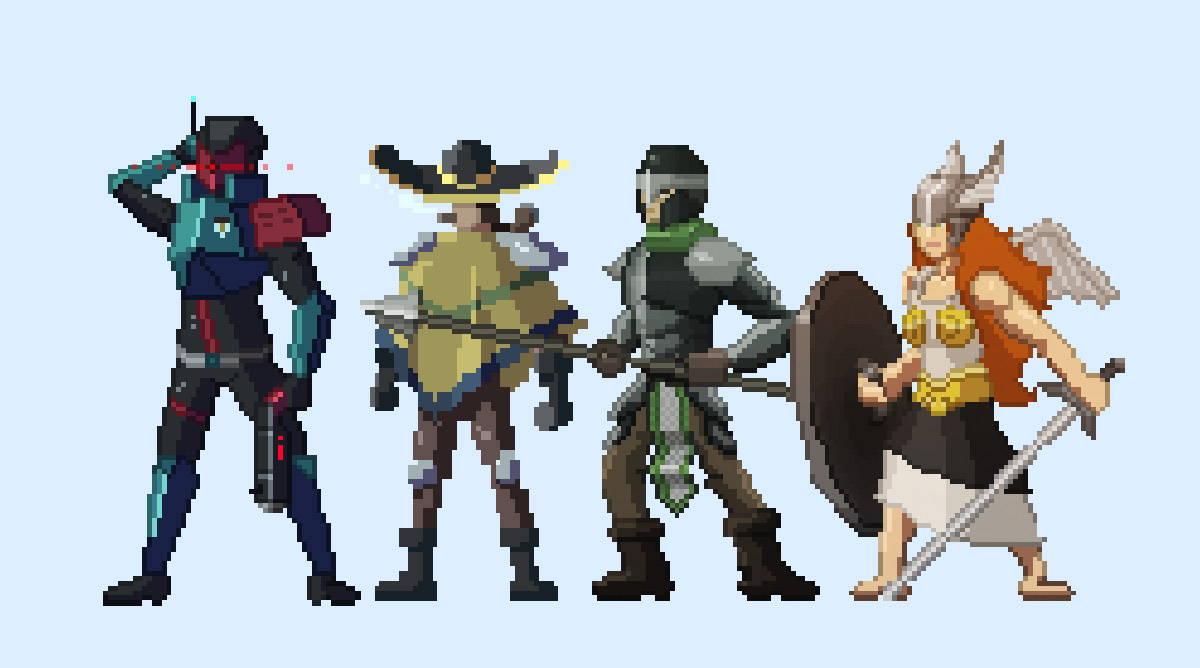 create pixel art character or object