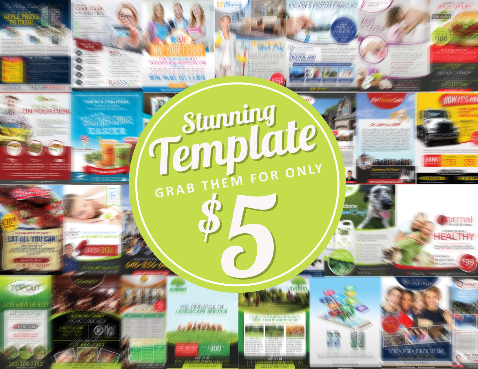 provide a stunning print ad from my template