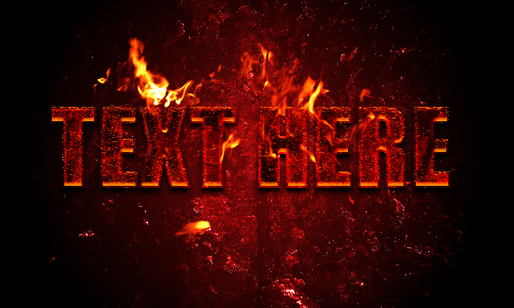 create your text with Hot Lava effect