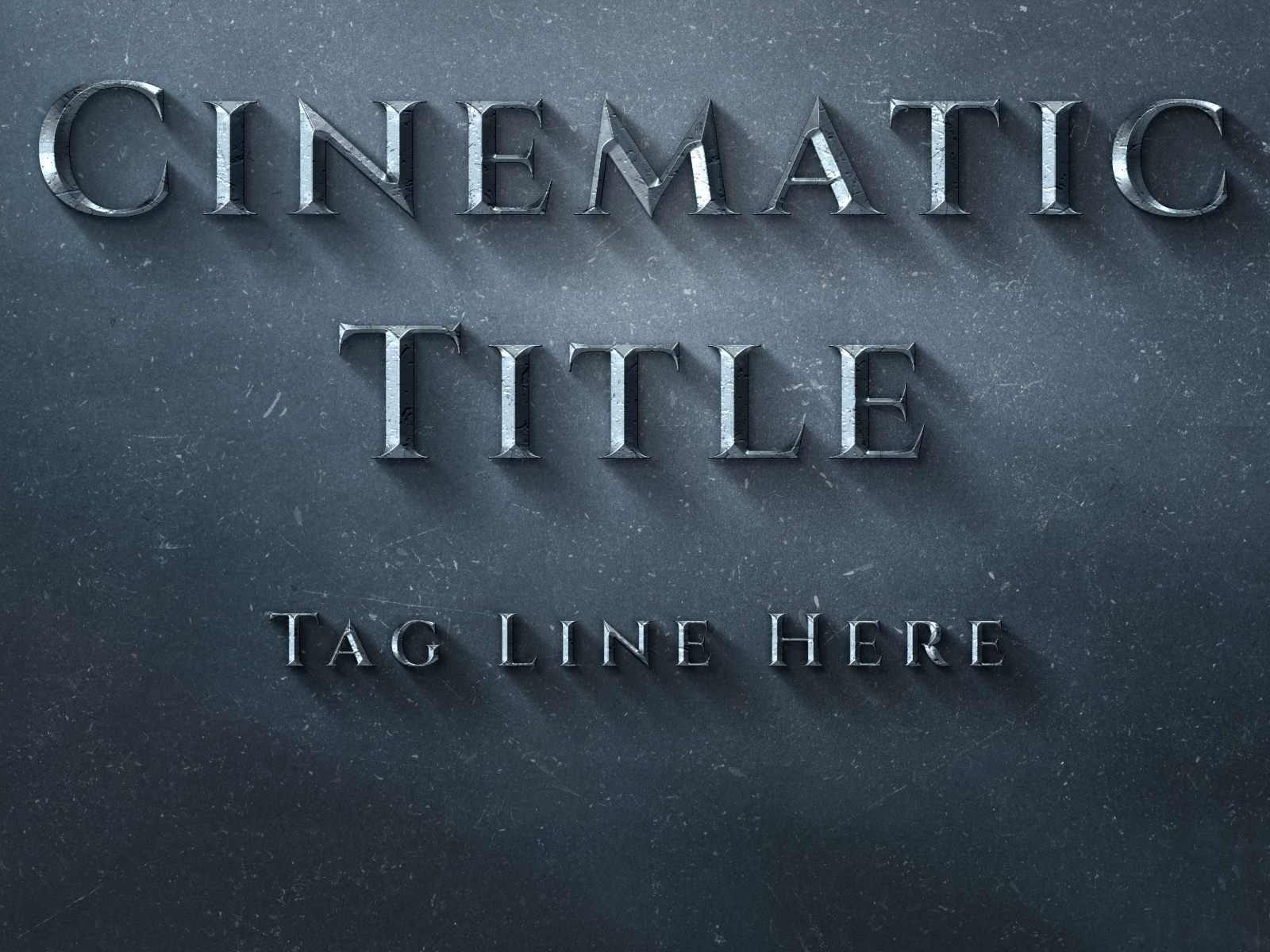 create your text with Cinematic Title text effect