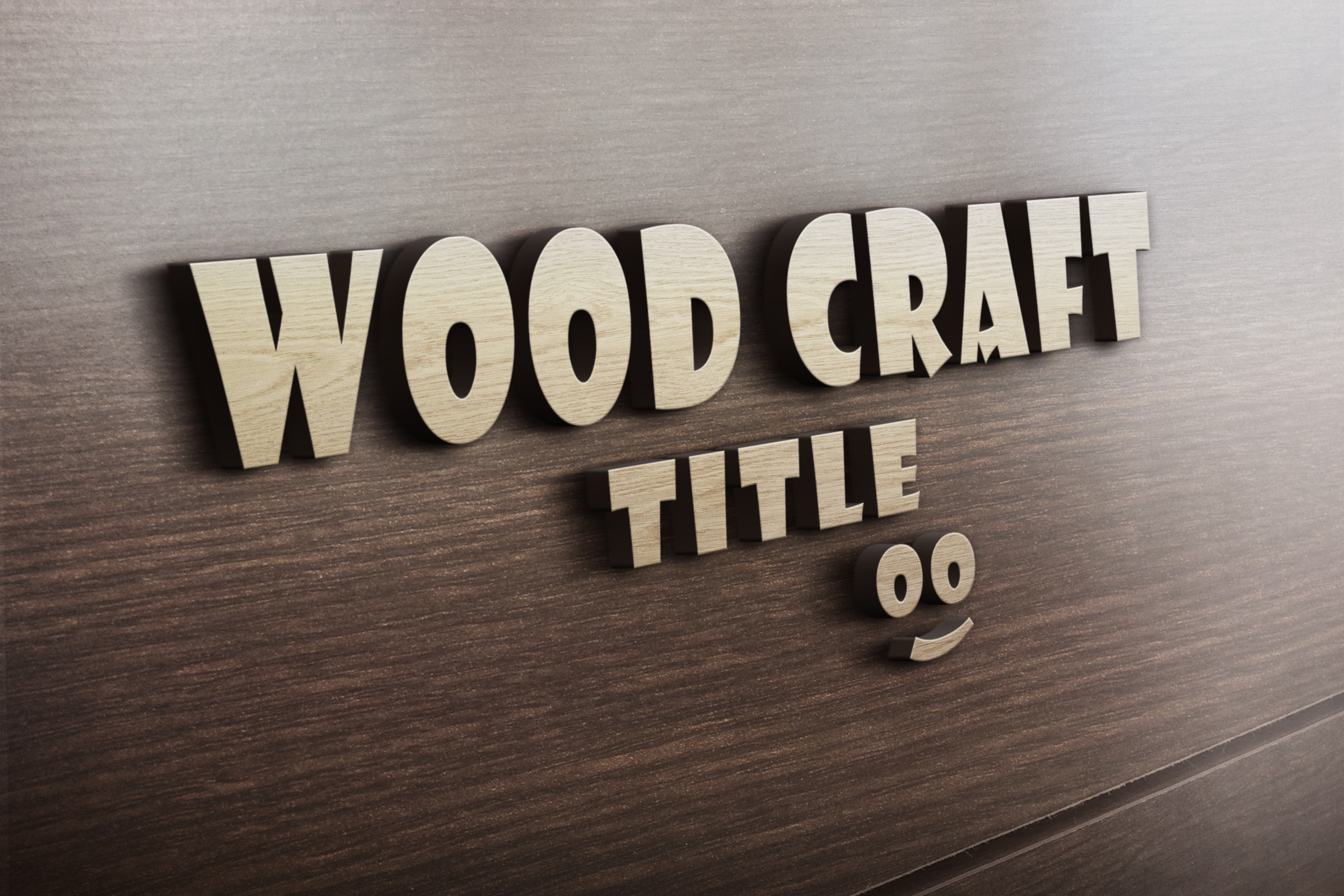 create Realistic 3D WoodCraft Title text effect