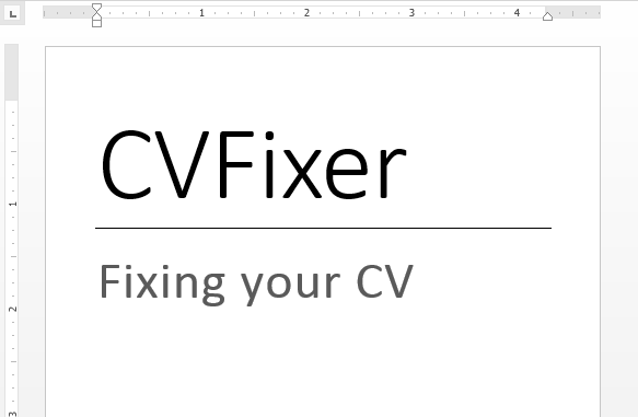 fix your CV formatting