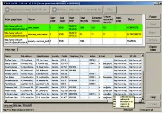 extract business data for you from yellow pages uk, es, us, au, ca