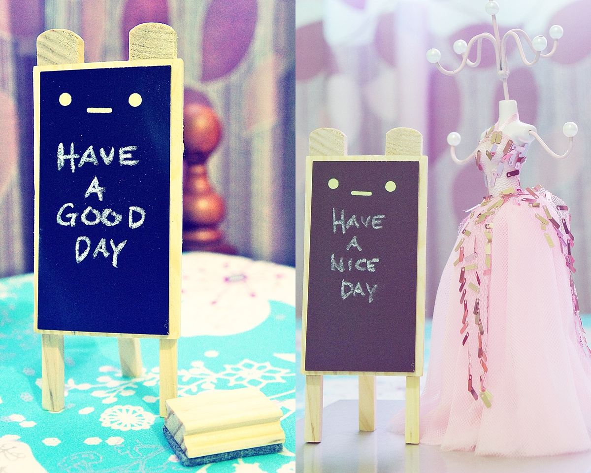 write your message on a cute chalkboard