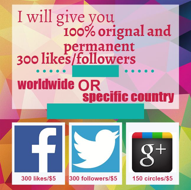 give you orignal and permanent likes or followers
