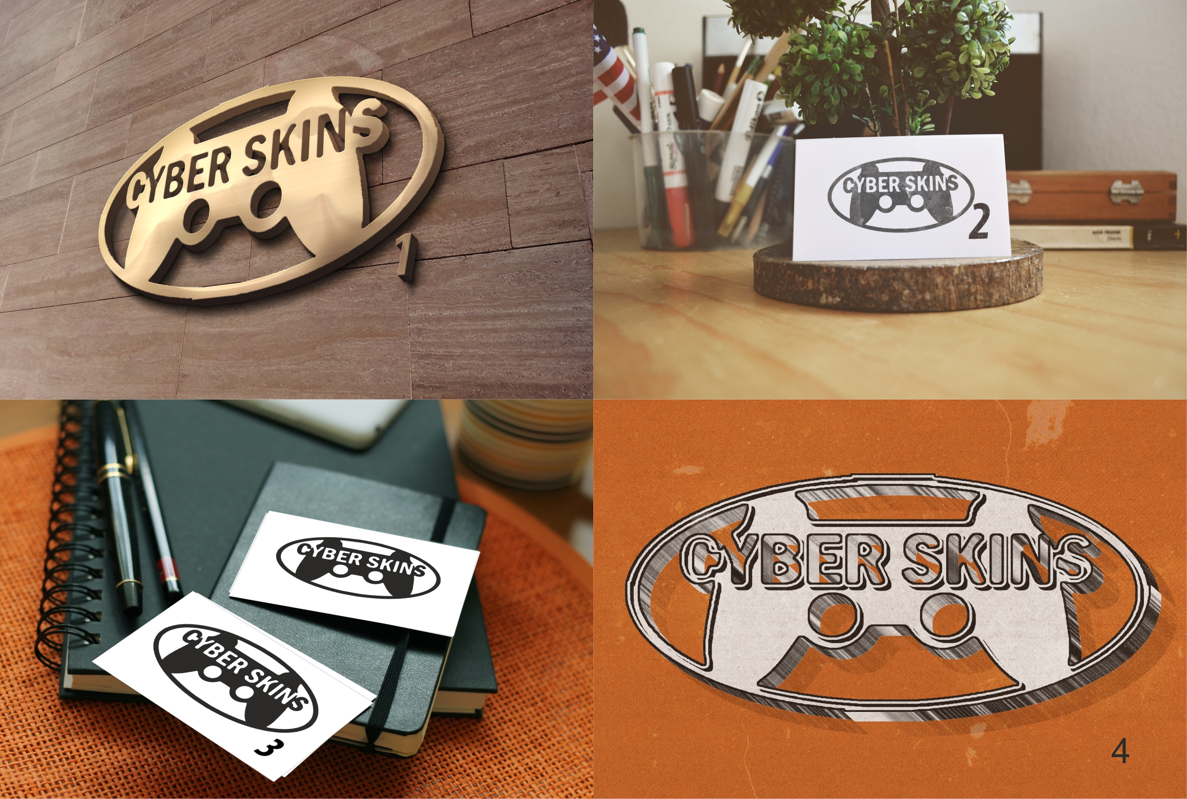 make 3 different styles of your logo or text