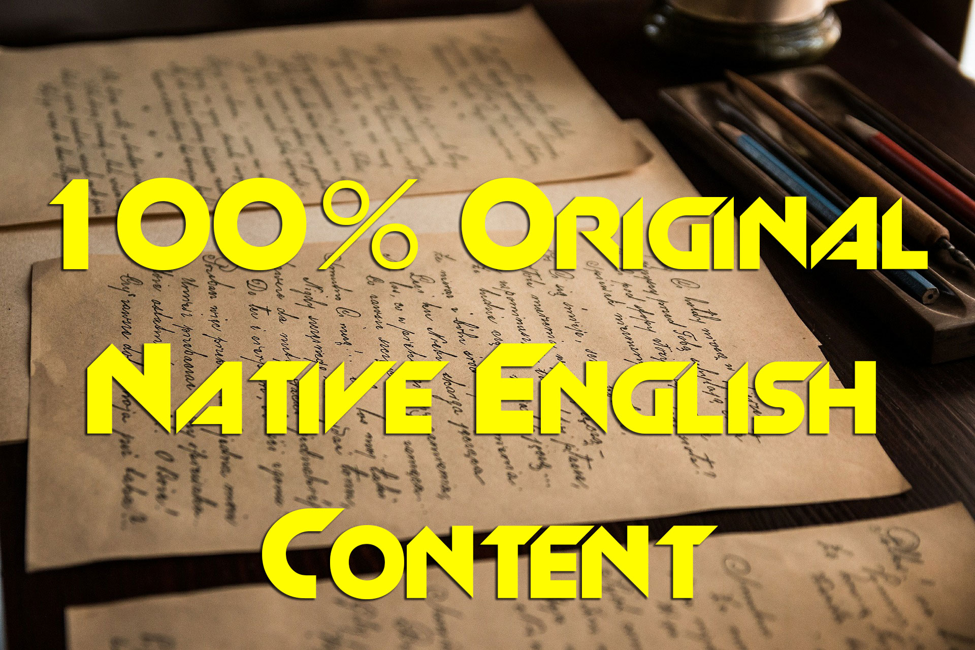 personally write up to 500 words of 100% original content in native English