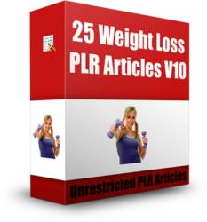 give you 25 Weight Loss PLR Articles V 10