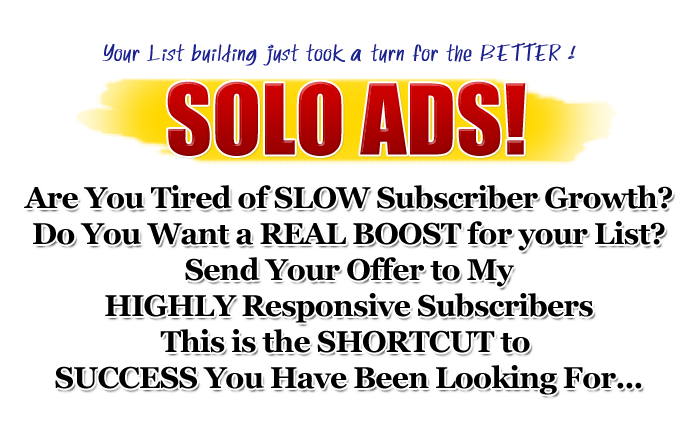 Give you My Personal List of Solo ad Sellers That Get Sales