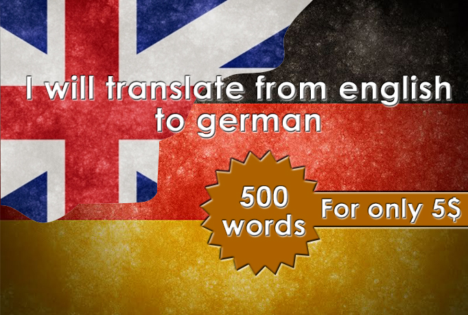 translate from english to german language up to 500 words