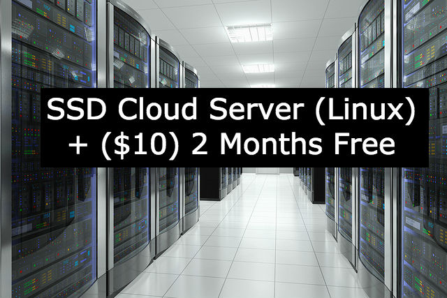 create SSD Cloud Server plus 2 months free